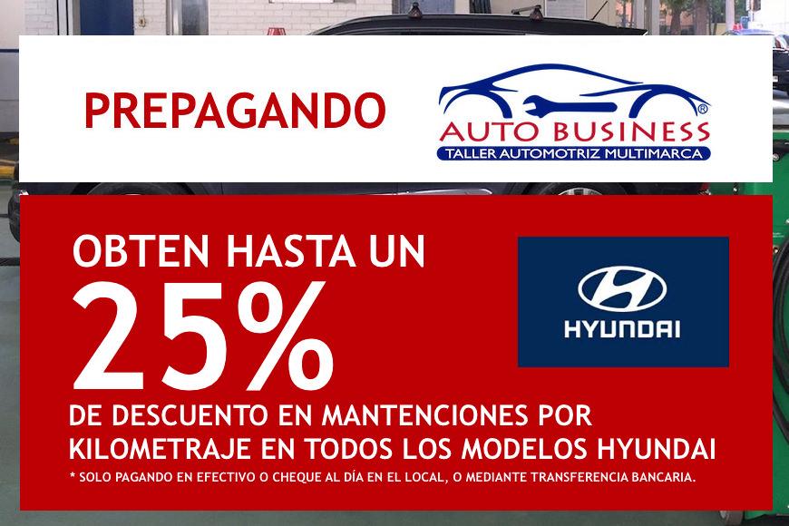 Prepaga tu mantención por kilometraje en Auto Business y obten un 25% de descuento